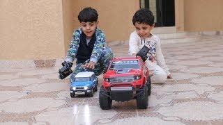 تحدي السيارات الريموت الكبيره والصغيره\زياد_والياس