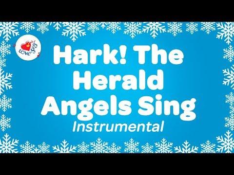 Hark! The Angels Sing Christmas Instrumental Music | Karaoke Lyrics | Children Love to Sing