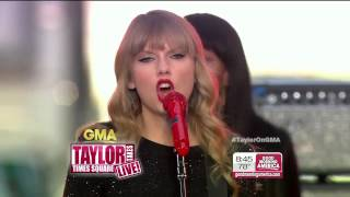 Repeat youtube video [HD] Taylor Swift - Red (Live) @ GMA 10/23/2012 on ABC