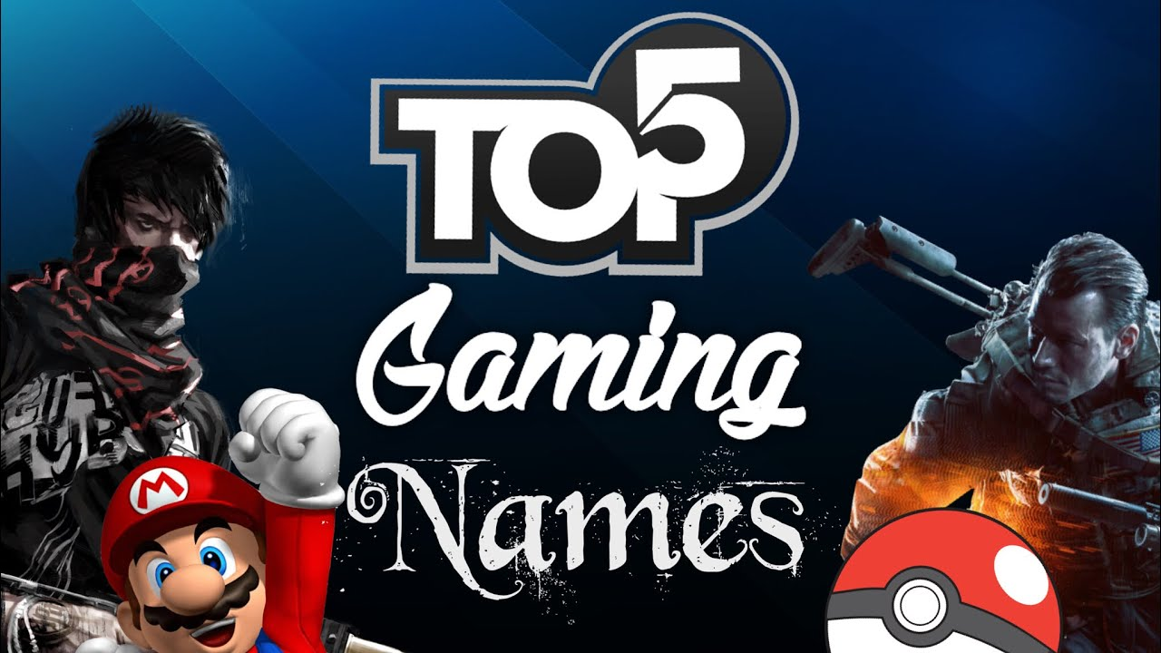 Best Youtube Gaming Channel Names