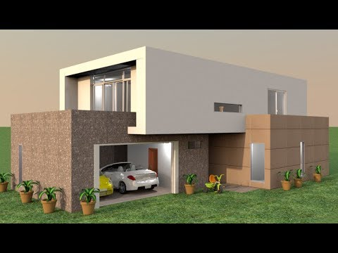Sweet home 3d modern villa complete project youtube for Sweet home 3d arredamento