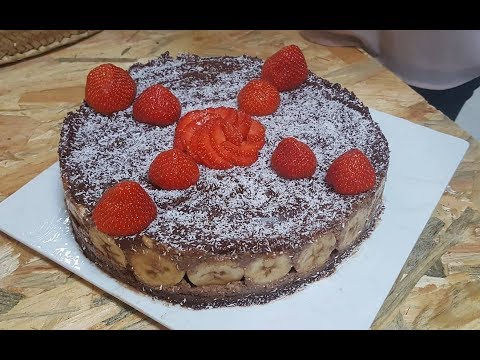 gâteau-cru-chocolat-banane