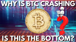 WHY IS BITCOIN CRASHING? Is The Bottom In? Bitcoin News