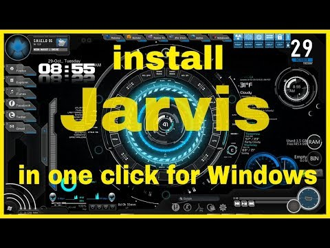 How to install Jarvis themes multiple skins,rainmeter for windows 10,8,7