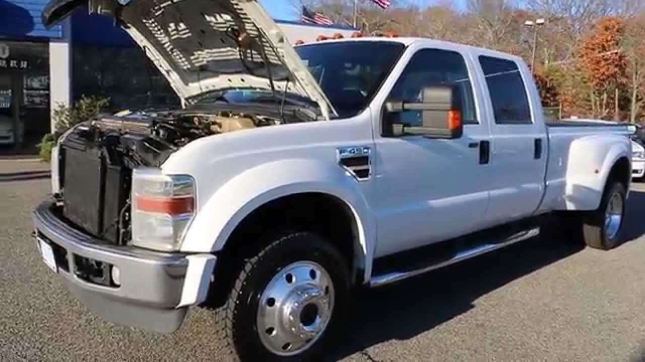 2008 ford f450 4x4 lariat diesel for salenew tiresleathernavigationawesome truck youtube