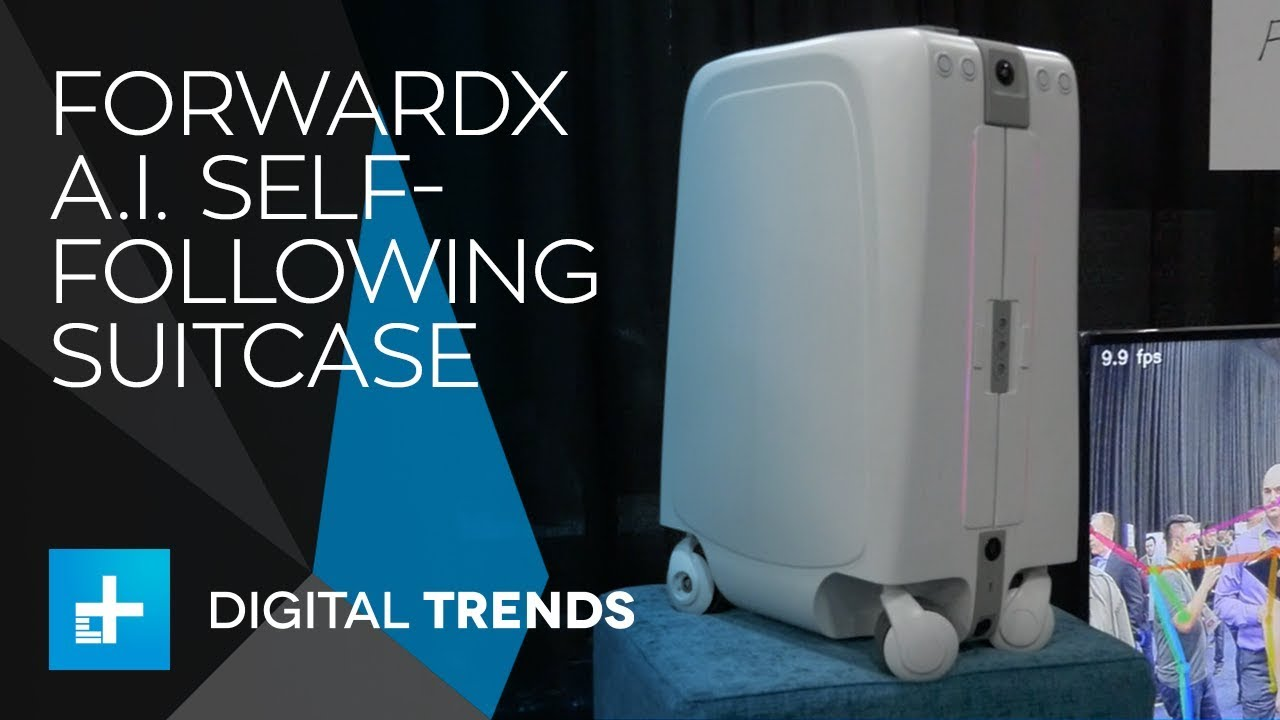 ForwardX A.I. Self Following Suitcase at CES 2018