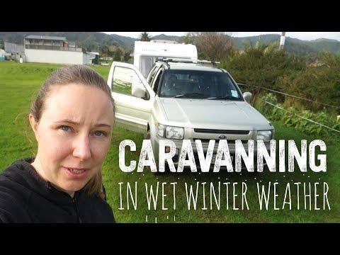Caravan / Trailer Off-Grid In New Zealand Winter | Coromandel Town