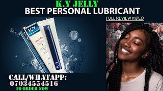 Best Personal Lubricant   K Y Jelly Personal Lubricant Full Review Video