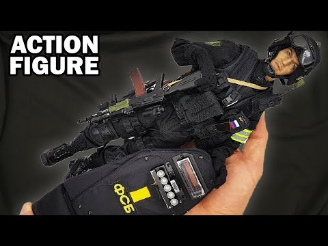 Russian Spetsnaz FSB Alpha Group Soldier 1/6 Scale Military Collectible Action Figure With AK Rifle
