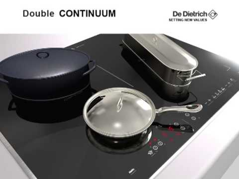 de dietrich double continuum induction hob youtube. Black Bedroom Furniture Sets. Home Design Ideas