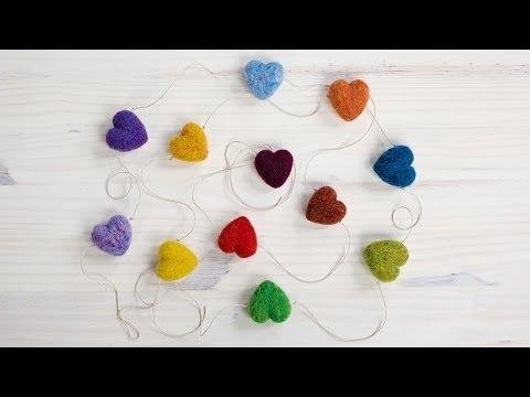 Rainbow Heart Garland Instructions