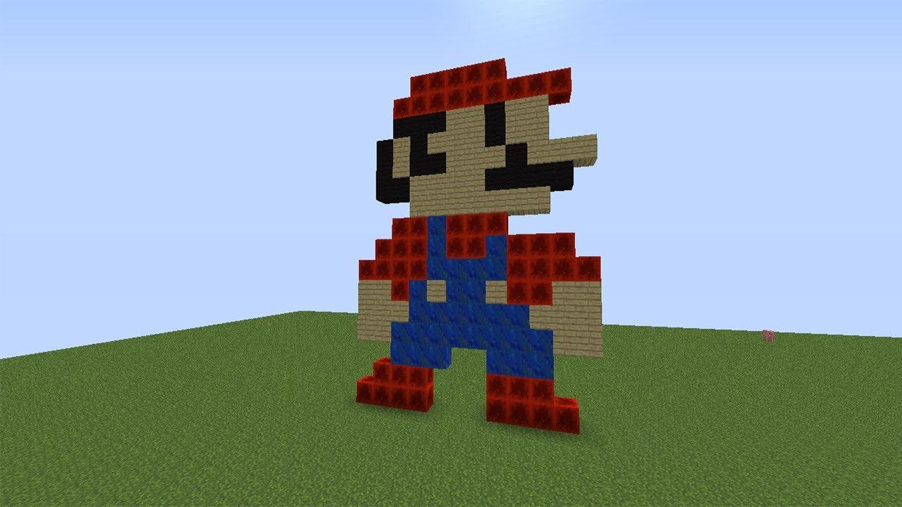 Minecraft Pixel Art Mario Bros Youtube