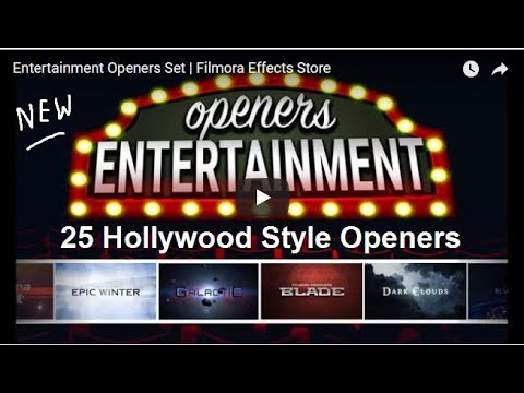 Filmora Entertainment Opener Set,Video Editing Effect pack FREE!!! By Stuff4u