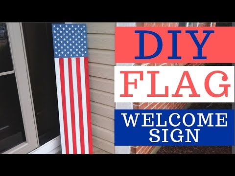 DIY American Flag Vertical Porch Sign | Whiskey & Whit