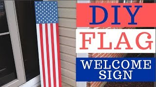 DIY American Flag Vertical Porch Sign   Whiskey & Whit