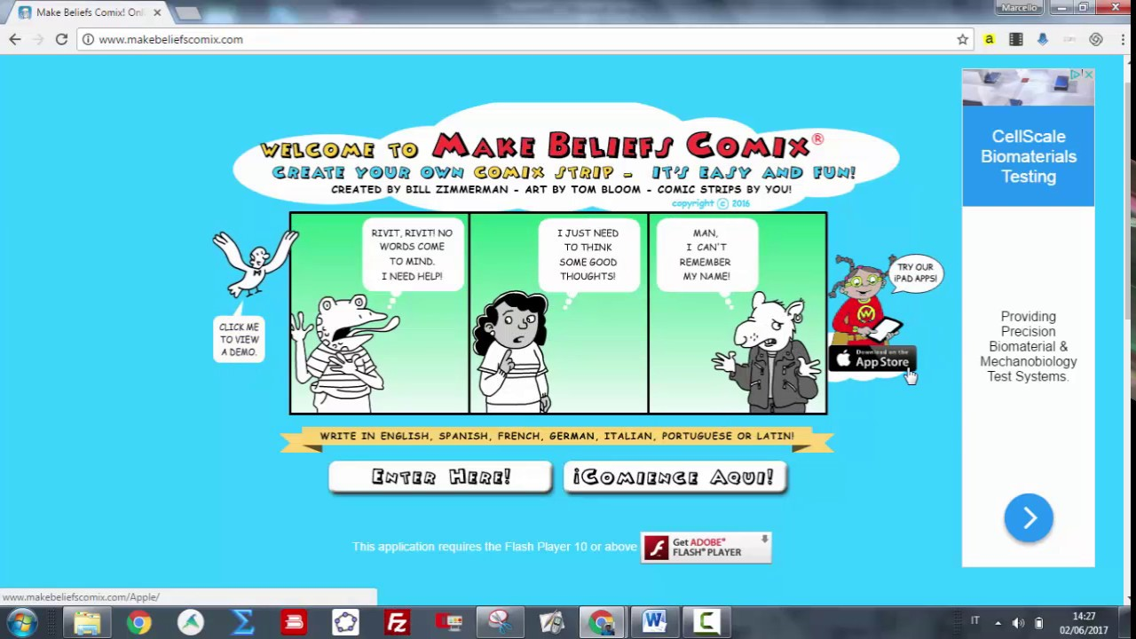 This is a picture of Astounding Make Believe Comic
