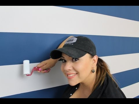 Como Pintar rayas en la pared / How to paint stripes on your walls