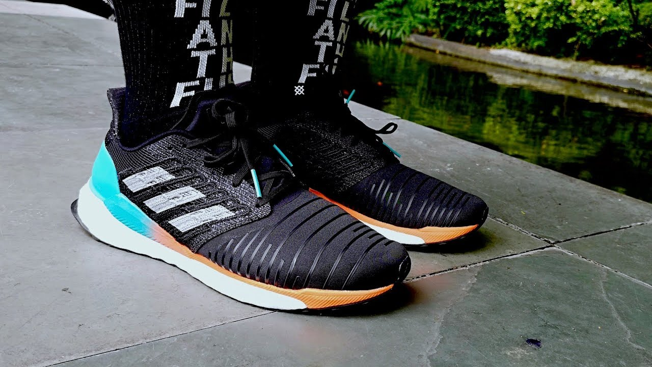 ADIDAS SOLAR BOOST: Fire Running Shoe (Literally)!