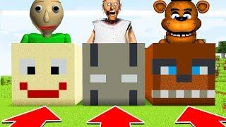 Minecraft : DO NOT CHOOSE THE WRONG HEAD! (Baldi, Granny, FNAF)(Ps3/Xbox360/PS4/XboxOne/PE/MCPE)