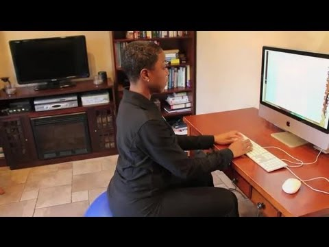Exercise Ball as an Office Chair : Training & Body Sculpting