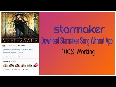 How To Download Starmaker Cover Song Without Any Software & Apps