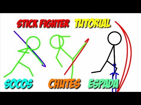 || Tutorial || chutes, socos,  espada || stick fighter ||