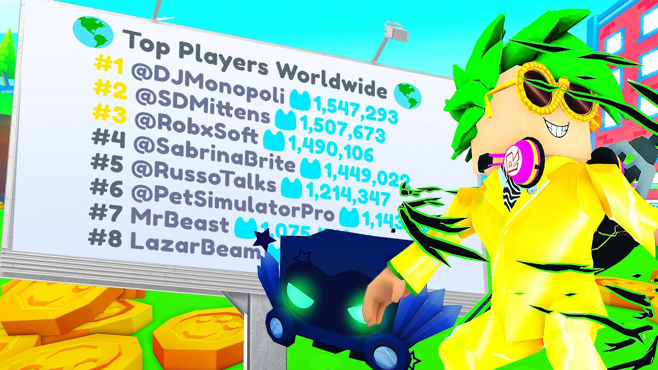 Download I got NUMBER 1 on the Leaderboard WORLDWIDE in Pet Simulator X!