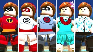 All Elastigirl Costumes in LEGO The Incredibles (DLC Included)