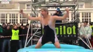 breaks world record for paddling pool jump.flv