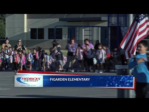 Hedrick's Chevrolet is proud to bring you the Pledge of Allegiance at Figarden Elementary School