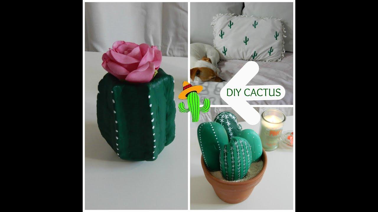 diy fran ais cactus room decor id es cadeaux faire soi m me gifts youtube. Black Bedroom Furniture Sets. Home Design Ideas