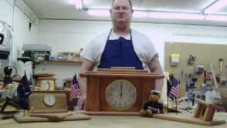Blind Woodworker Creates Military Desk Art