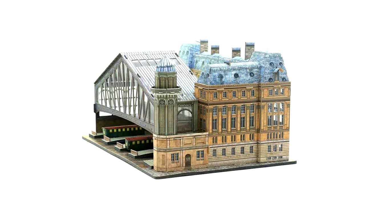 umbum gare saint lazare paris modele kartonowe puzzle. Black Bedroom Furniture Sets. Home Design Ideas