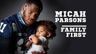 Penn State LB Micah Parsons on his son, family and Covid-19 risks in deciding to opt out of season