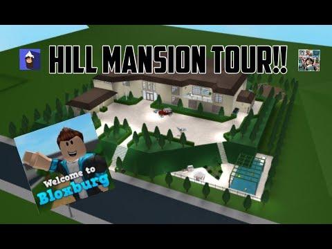 Touring My Hill Mansion Bloxburg Roblox - 200k house bloxburg roblox how to build