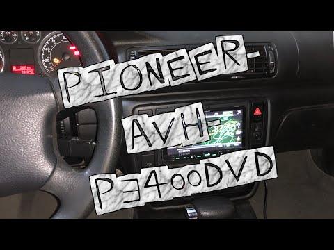Установка магнитолы  2 DIN Pioneer-AVH-P3400DVD через замок зажигания .