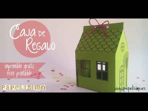 C mo hacer una caja con forma de casa youtube - Como forrar una caja con tela ...
