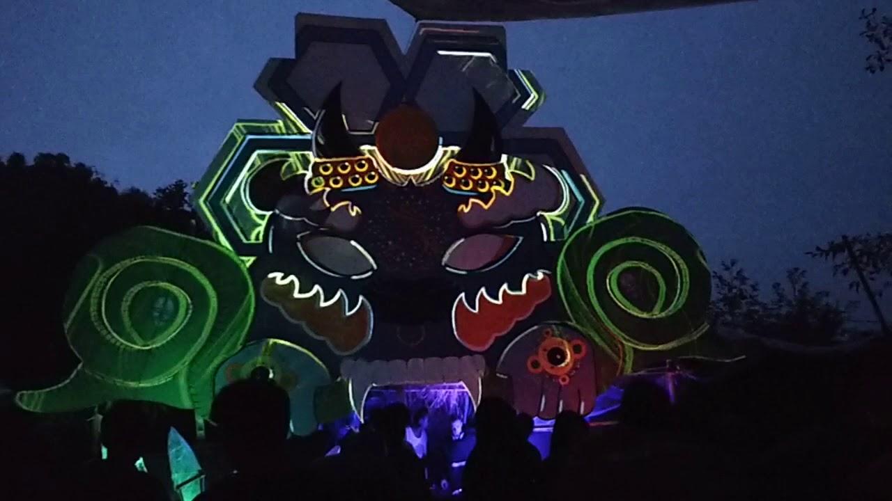 Crazy visuals (Hi-Tech Psy) omkara festival 2018 nepal
