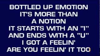 I GOT A FEELIN' by BILLY CURRINGTON (KARAOKE).wmv