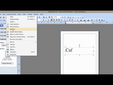 How to Apply an Accent to the Letter E in Microsoft Publisher : Microsoft Graphic Design Programs