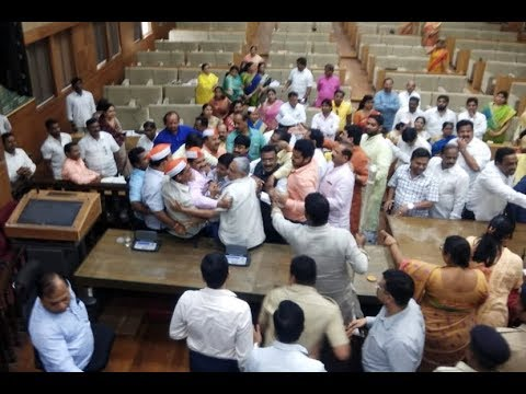 Protest By  Shiv Sena In  Pune Municipal Corporation On Maratha Reservation