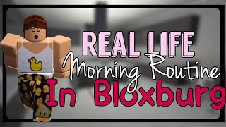 My School Morning Routine In Bloxburg!! (Roblox)