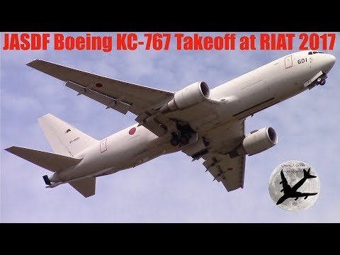 Japan Air Self Defence Force Boeing KC-767 | Awesome Takeoff at Fairford | 17/07/17