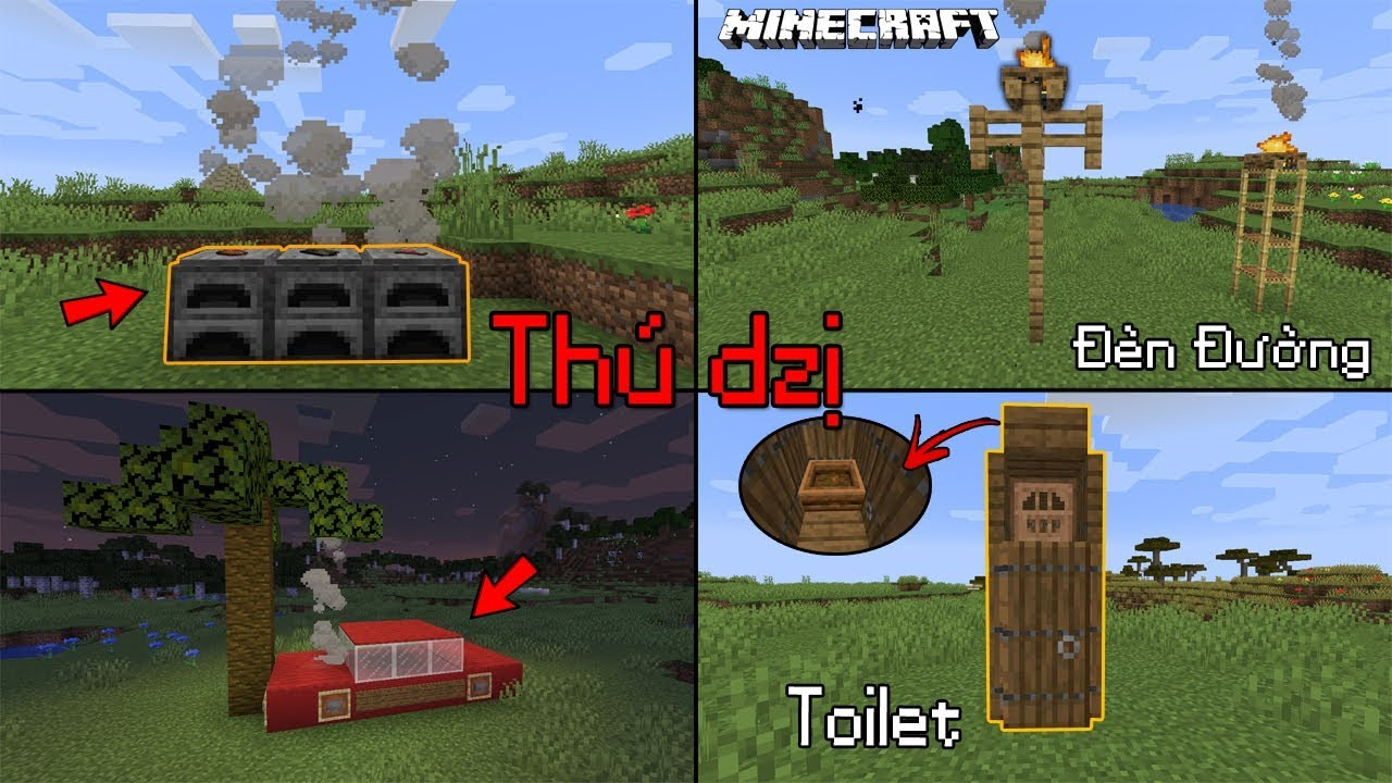 5 Sáng Tạo Siêu Thú Vị Trong Minecraft Bạn Cần Biết Về 1.14 ?? - Xe Hơi Bốc Khói??