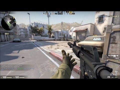 Counter-Strike: Global Offensive - Dust 2 (2017 Map) Gameplay (PC HD) [1080p60FPS]