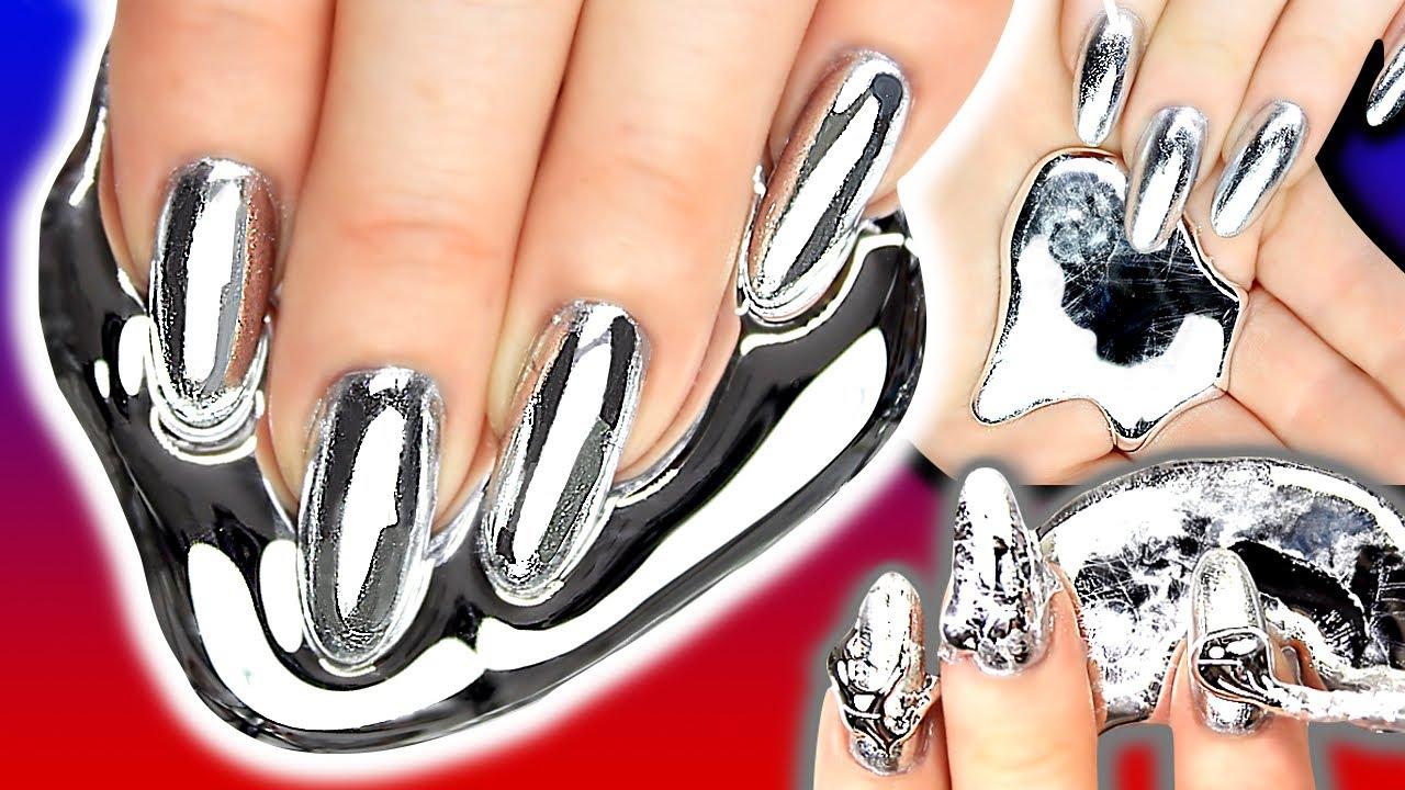 Gallium Silver Chrome Foil Nail Art | Metal Nail | NAILED IT OR FAILED IT? - GALLIUM NAILS! Gallium Silver Chrome Foil Nail Art Metal Nail