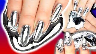 GALLIUM NAILS! Gallium Silver Chrome Foil Nail Art   Metal Nail   NAILED IT OR FAILED IT?