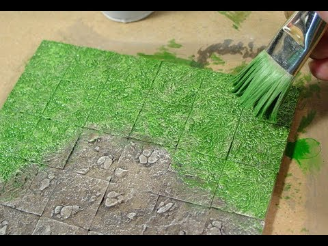 Painting Grass Dirt And Rock