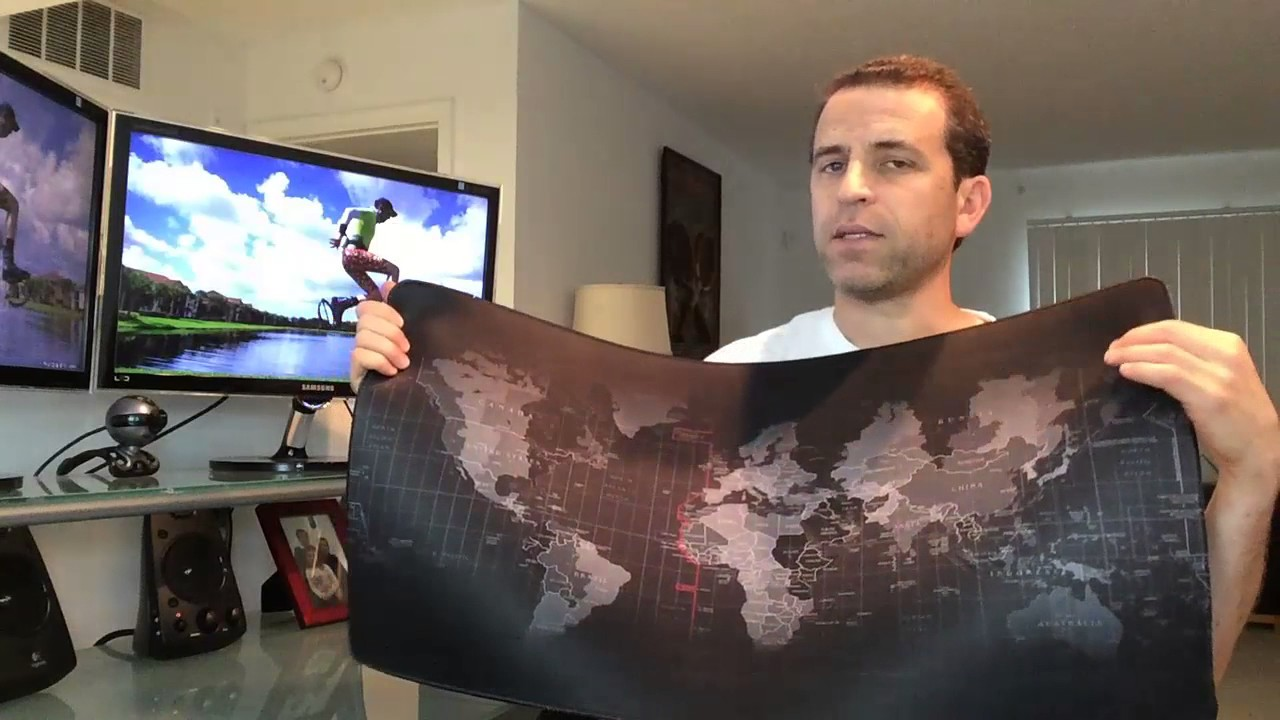 728ff55aad2 World Map Mouse Pad Review - YouTube