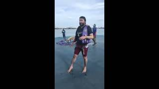 ZAFAR SUPARI enjoying parasailing in THAILAND